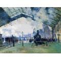 Станция Сен-Лазар , поезд  в Нормандию - Моне, Клод