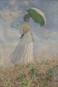 Этюд фигуры на плэнере, слева, 1886 - Моне, Клод