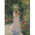 Камилла с зеленым зонтиком, 1876 - Моне, Клод