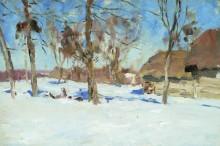 В начале марта. 1900 (Этюд) - Левитан, Исаак Ильич