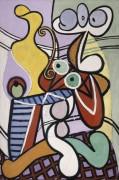 Натюрморт на столике - Пикассо, Пабло