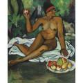 Обнаженная мулатка с яблоком - Валадон, Сюзанна
