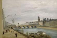 Мост Менял, вид с набережной Жевр - Коро, Жан-Батист Камиль