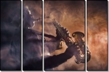 Саксофонист в дыму - Сток