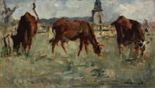 Коровы на пастбище, 1873 - Мане, Эдуард