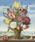 Букет с цветами на парапете - Босхарт, Амброзиус (Старший)