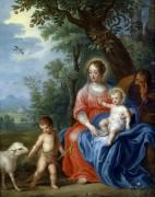 Святое Семейство с маленьким Иоанном Крестителем и агнцем - Брейгель, Ян (младший)