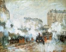 Прибытие поезда, вокзал Сен-Лазар - Моне, Клод