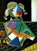Майя на лодке, 1938 - Пикассо, Пабло