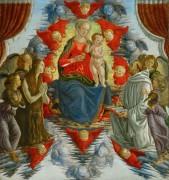 Мадонна с Младенцем, Мария Магдалина, святой Бернард и ангелы - Боттичелли, Сандро