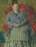Мадам Сезанн в красном кресле - Сезанн, Поль