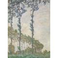 Тополя во время ветра, 1891 - Моне, Клод