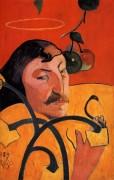 Автопортрет с ореолом, 1889 - Гоген, Поль