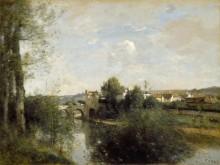 Сена и Старый мост в Лимэ - Коро, Жан-Батист Камиль