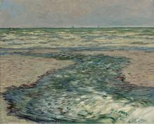 Морское побережье в Пурвиле, отлив, 1882 - Моне, Клод