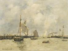 Трувиль, причалы, 1894 - Буден, Эжен