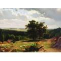 Вид в окрестностях Дюссельдорфа, 1864-1865 - Шишкин, Иван Иванович