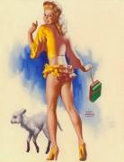 Девушка в желтом с овечкой - Моран, Эрл