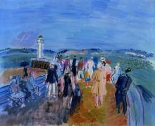 Пейзаж с видом на Темзу и здание парламента - Дюфи, Рауль
