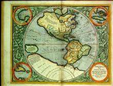 Карта Америки, 1592 г. - Меркатор, Михаэль