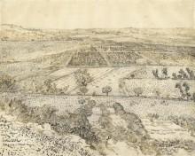 La Crau Seen from Montmajour, 1888 - Гог, Винсент ван
