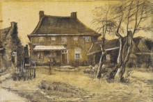 Дом священника в Нюэнене, вид сзади (The Vicarage at Neunen, Seen from the Back, with Artist's Studio on the Right), 1884 - Гог, Винсент ван