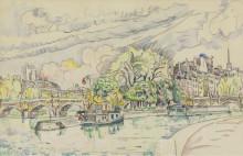 Сена в Вер-Галане, 1925 - Синьяк, Поль