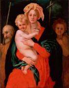 Мадонна с младенцем, св. Иосифом и Иоанном Крестителем - Понтормо, Якопо Каруччи да