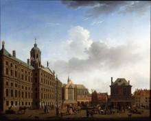 Вид на Ратушу, Амстердам - Оувоте, Исаак