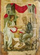 Святой Матфей и ангел, 15 век, 58 х 37.5 cм