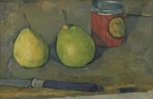 Натюрморт с ножом и грушами - Сезанн, Поль