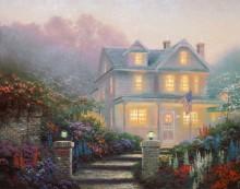 Вечерний пейзаж с домом в викторианском стиле - Кинкейд, Томас