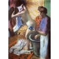 Завтрак в ванной, 1883 - Дега, Эдгар