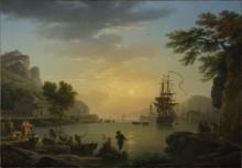 Пейзаж на закате - Верне, Клод Жозеф