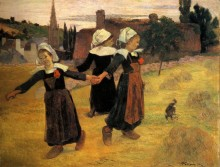 Бретонские девочки танцуют, 1888 - Гоген, Поль