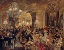 Ужин на балу - Менцель, Адольф фон
