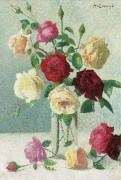 Ваза с розами - Ложе,  Ашиль