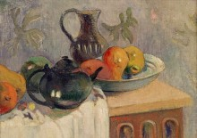 Чайник, кувшин и фрукты - Гоген, Поль