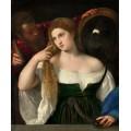 Дама с зеркалом - Тициан Вечеллио