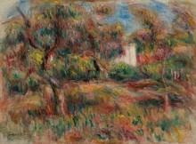 Пейзаж с хижиной в саду - Ренуар, Пьер Огюст