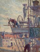 Установка подмостей (этюд), 1905 - Люс, Максимильен