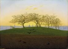 Холм и пашни близ Дрездена, 1825 - Фридрих, Каспар Давид