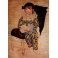 Поль как Арлекин, 1924 - Пикассо, Пабло