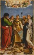 Святая Цецилия со святыми Павлом, Иоанном Богословом, Августином и Марией Магдалиной - Рафаэль, Санти