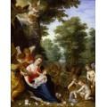 Мадонна с Младенцем и ангелами в пейзаже - Брейгель, Ян (Старший)