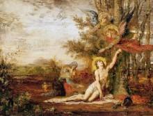 Христос и ангел - Моро, Гюстав