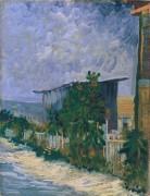 Монмартр - дорожка с подсолнухами (Montmartre - Path with Sunflowers), 1887 - Гог, Винсент ван
