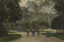 Монахини и школьницы в саду Тюильри -  Лепин, Станислав, Виктор Эдуард