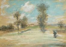 Пейзаж с крестьянином на дороге - Рафаэлли, Жан Франсуа
