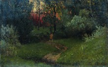 Дорога в лесу. Конец 1870 - начало 1880-х - Левитан, Исаак Ильич